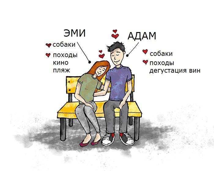 Союз Адама и Эми держится на совпадении в двух интересах.