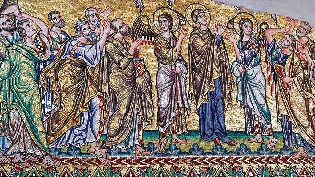 Одна из масштабных мозаик в базилике Рождества. Фото: Thomas Coex