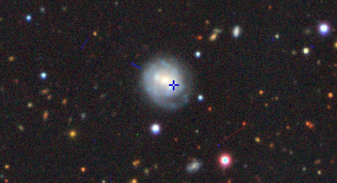Вспышка произошла в 200 миллионах световых лет от Земли.