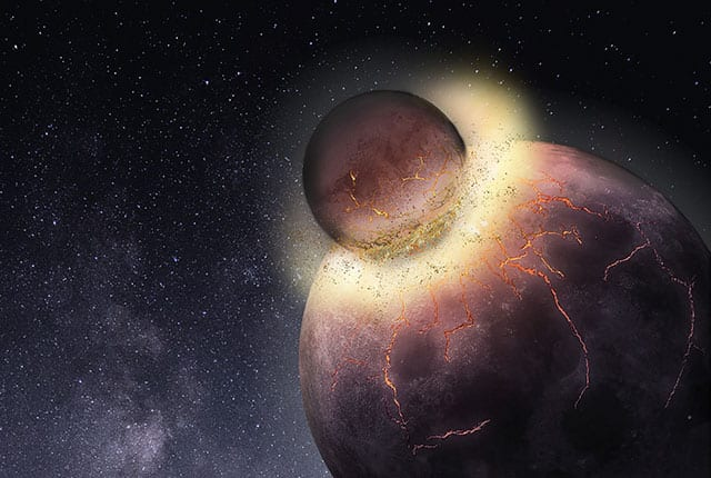 Столкновение с Тейей – наиболее популярная версия образования Луны.