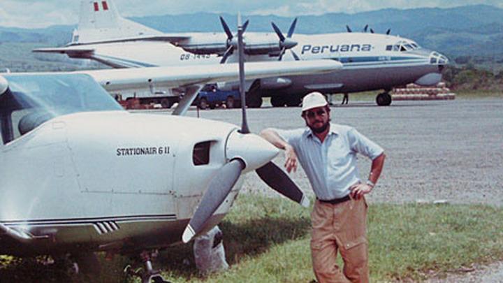 Пилот гражданской авиации Николай Николаевич Капралов в Перу.