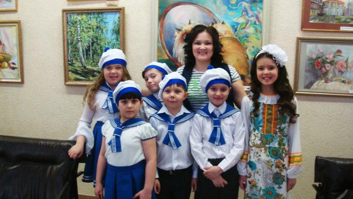 Эльвира Сайфулина с учениками, фото Эльвиры Сайфулиной
