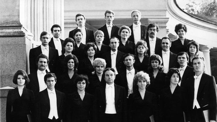 Артисты первого состава Московского камерного хора. Фото 1974 года