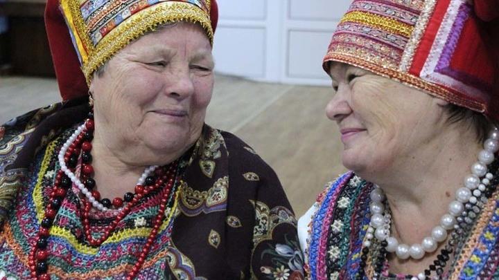 "Солистки ансамбля ""Моро"" Екатерина Скобелева и Валентина Протасова"