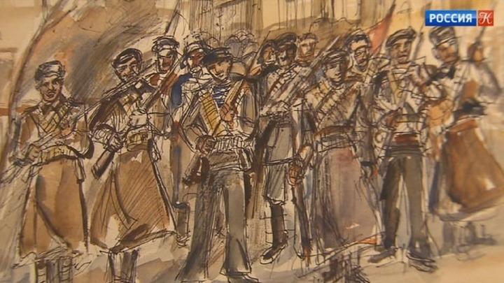 """Рисунки Александра Лабаса к поэме Блока """"Двенадцать"""" представлены на выставке в столице"""
