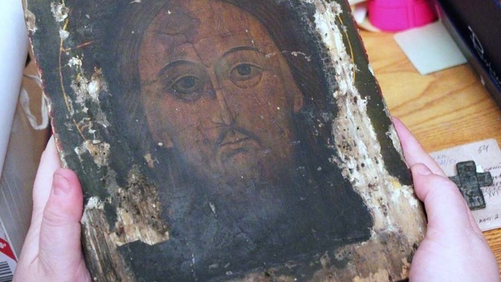 Икона «Спас Нерукотворный» из Кафедрального собора, возвращенная в Тверь из Германии.