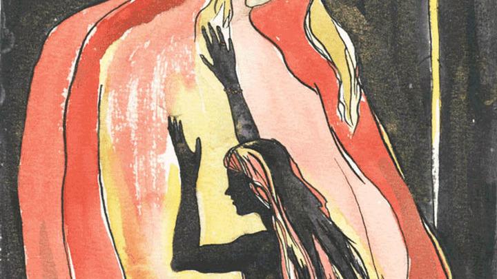 """Иллюстрация к книге В. Брюсова """"Огненный ангел"""". Художник Анна  Дворникова"""