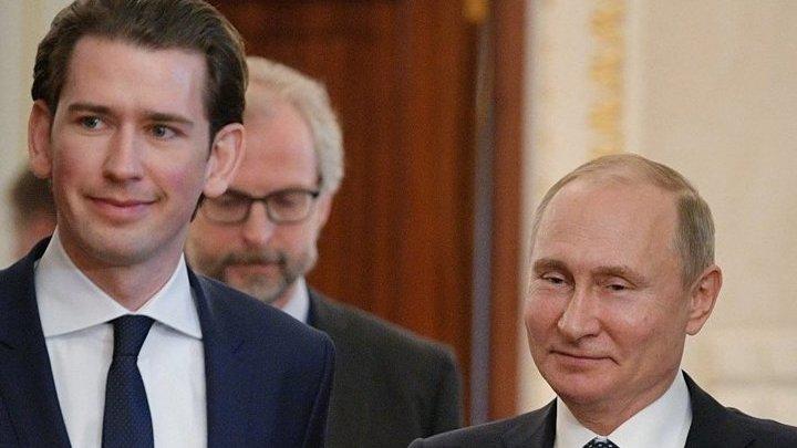 Владимир Путин поговорил по телефону с канцлером Австрии Себастьяном Курцем