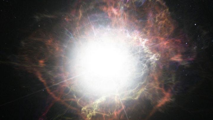 Художественное изображение вспышки сверхновой.