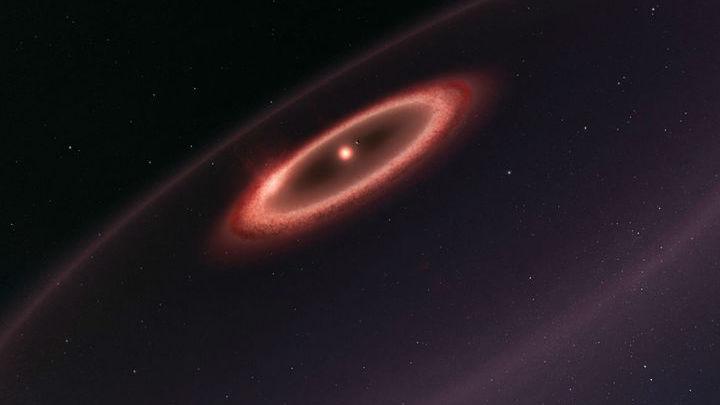 """Обнаруженные """"Спитцером"""" облака пыли могут быть свидетельством множественного столкновения планет."""