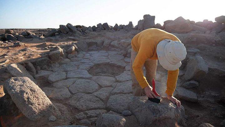 Команда исследователей в северо-восточной Иордании, где было найдено свидетельство самого раннего хлебопечения в истории человечества.
