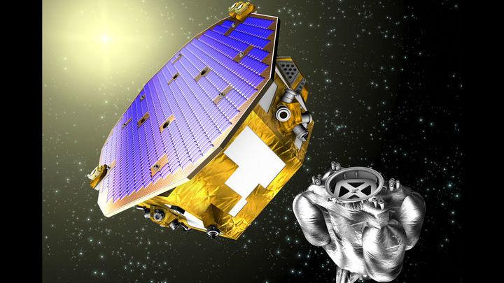Изображение космического зонда LISA Pathfinder, предназначенного для испытания технологии будущих космических детекторов гравитационных волн