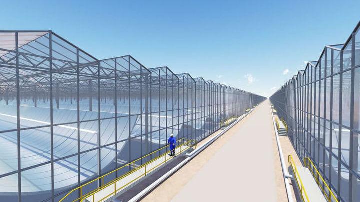 Станция будет состоять из 36 стеклянных модулей с зеркалами.