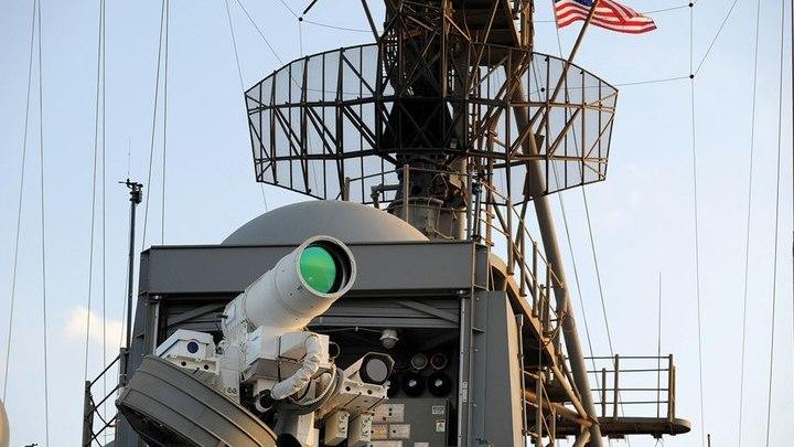 Лазерная пушка, установленная на корабле ВМС США.