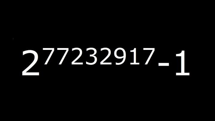 Самое большое простое число было названо M77232917.