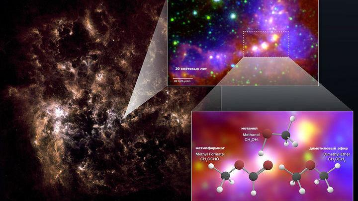 В карликовой галактике неожиданно нашли сложную органику.