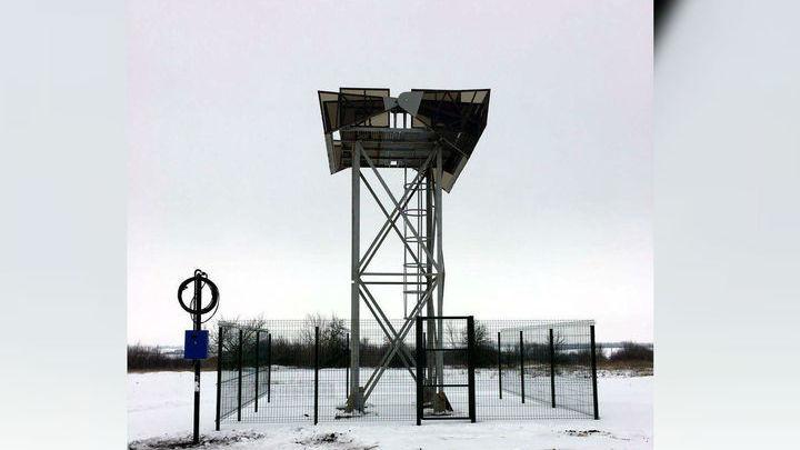 Первая телескопная вышка уже установлена в Курской области.