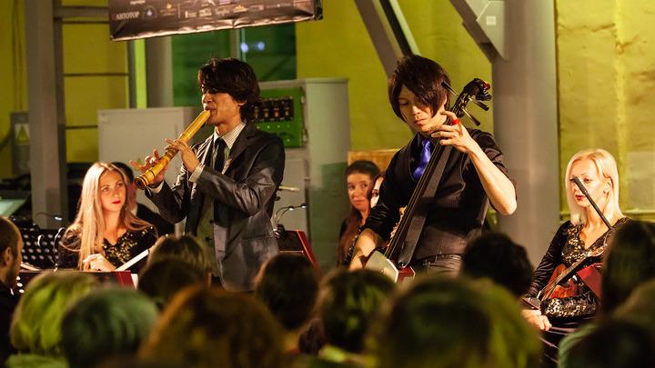 ХИДЭ-ХИДЭ на концерте в Калининградском трамвайном депо. Фото: Юлия Алексеева