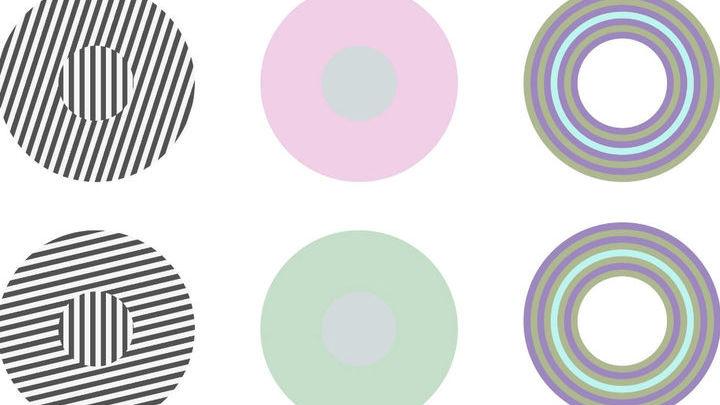 Свойства большого круга влияют на то, каким кажется маленький круг в его центре.