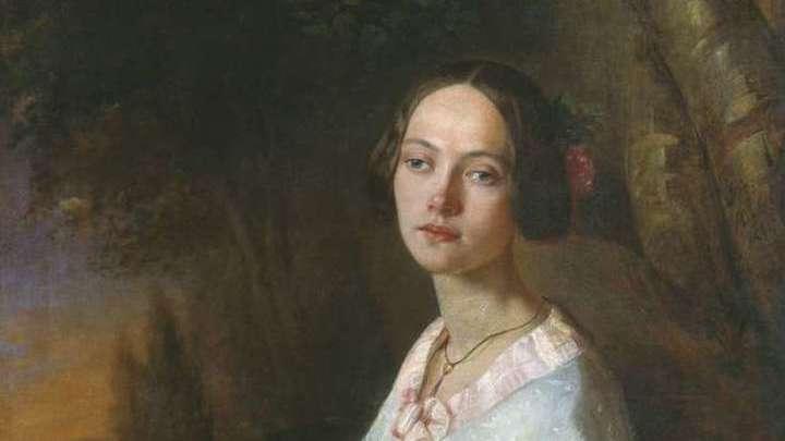 Портрет Юлии Валериановны Жадовской (1824-1883). Художник  Лавров Николай Андреевич