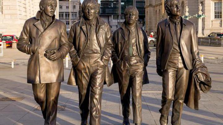 Англия. Ливерпуль..Музыкальная Группа The Beatles, Ринго Старр, Джордж Харрисон, Пол Маккартни, Джон Леннон