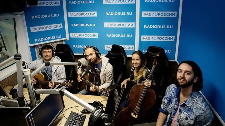 """Группа """"День Ангела"""" """"В студии """"Радио России"""".   Фото  Ирины Амагаевой"""