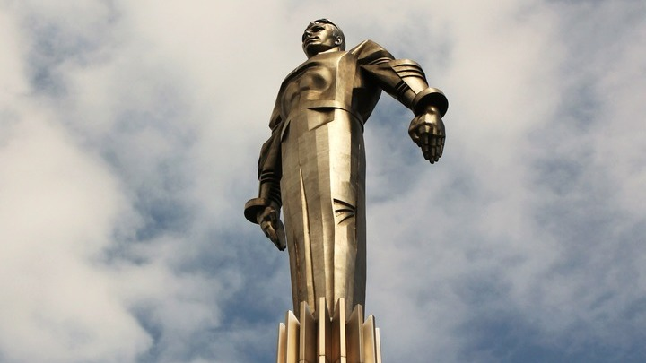 Москва, памятник Юрию Гагарину. 2019 год. Фото Леонида Варебруса