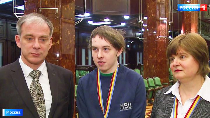 В МГУ чествуют победителей мирового чемпионата по программированию