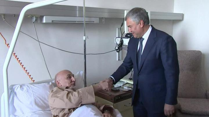 Володин посетил в больнице российского сотрудника ООН, пострадавшего в Косове
