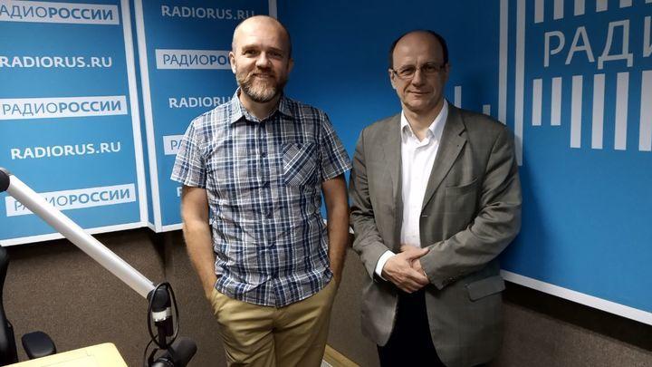 Дмитрий Конаныхин и Василий Цветков в студии