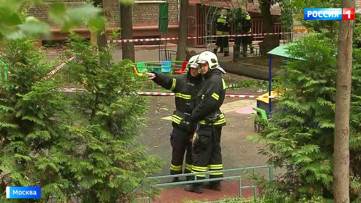Дерево рухнуло на песочницу с играющими детьми: один малыш погиб