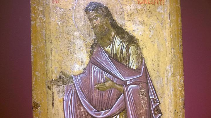 Святой Иоанн Предтеча, конец XIV- начало XV вв. Новгород. Фото Л. Варебруса