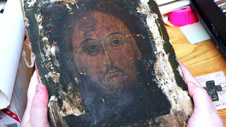 Икона «Спас Нерукотворный» из Кафедрального собора, возвращенная в Тверь из Германии. Фото Леонида Варебруса
