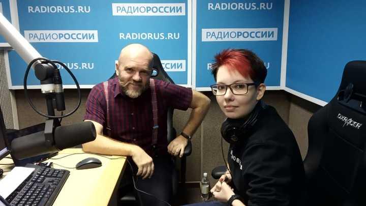 """Дмитрий Конаныхин и Анна Иванова в студии """"Радио России"""""""