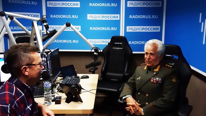 """Галим Вергасов и генерал-полковник Антон Терентьев в студии """"Радио России"""""""