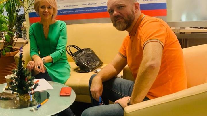 """Наталия Таньшина в студии """"Радио России"""""""