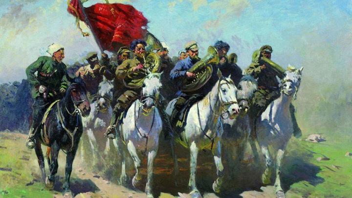 """М. Греков """"Трубачи Первой конной армии"""" /ru.wikipedia.org/"""