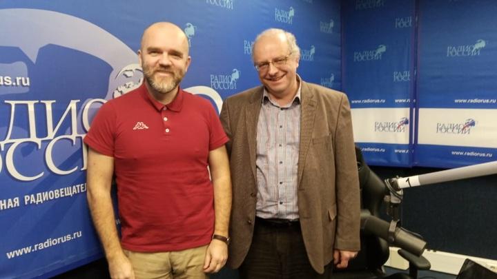 """Владимир Смирнов и Дмитрий Конаныхин в студии """"Радио России"""""""