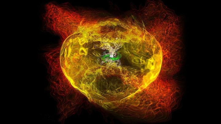 Гравитационные волны рассказали о кварковой материи в недрах нейтронных звёзд