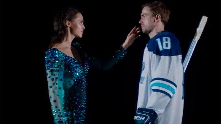 """Это наш подарок: Хлынина и Петров опубликовали клип, не вошедший в фильм """"Лёд 2"""""""