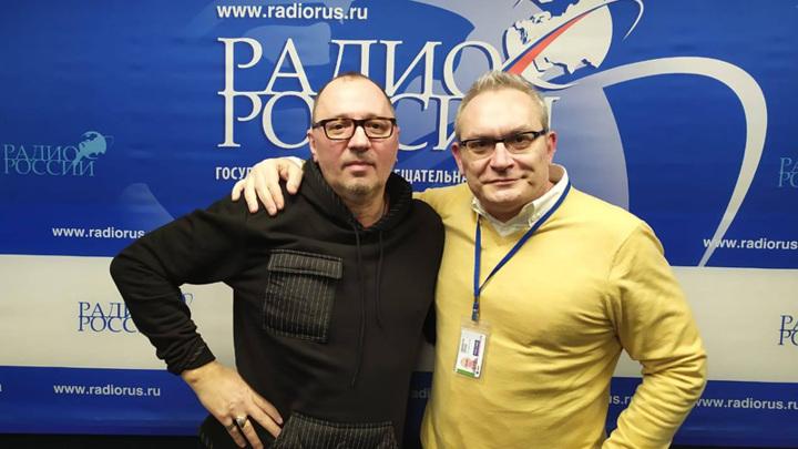 Русский поэт и прозаик Вадим Месяц и Вячеслав Коновалов