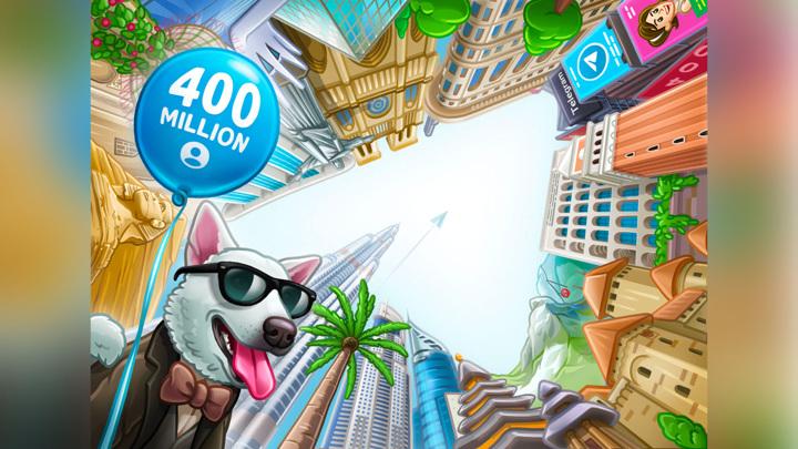 Аудитория Telegram достигла 400 миллионов человек