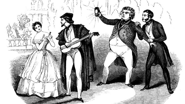"""Сцена из оперы   Гаэтано Доницетти """"Дон Паскуале"""" /ru.wikipedia.org/"""