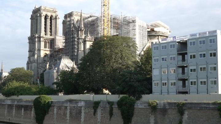 С собора Нотр-Дам-де-Пари снимают леса