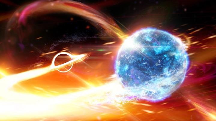 Объект, столкнувшийся с чёрной дырой в ходе события GW190814, может оказаться как чёрной дырой, так и нейтронной звездой.