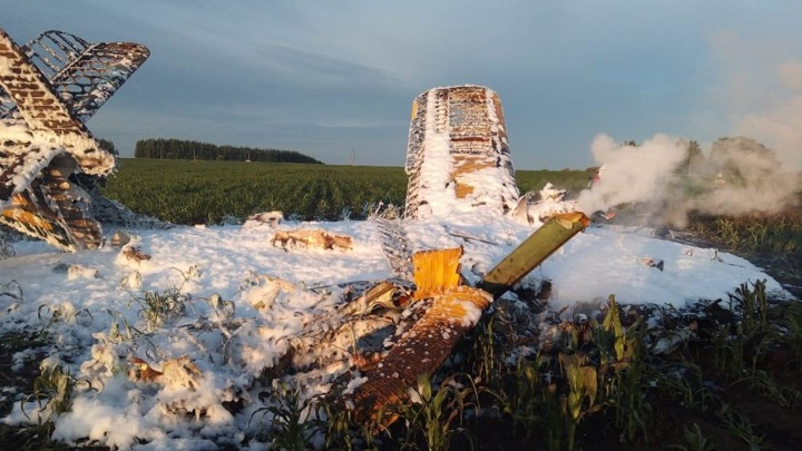 Сгоревший в Нижегородской области Ан-2 перед падением зацепил ЛЭП