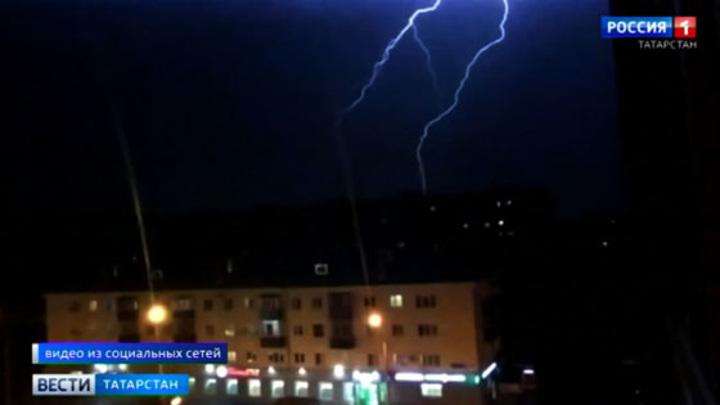 Природа показала жителям Казани световое шоу под небесным куполом