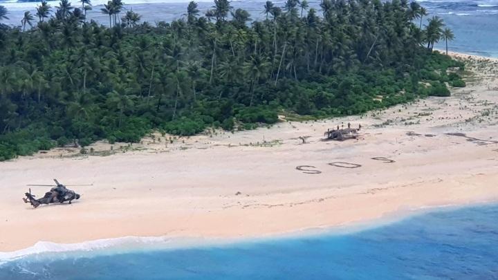 В США спасли людей с необитаемого острова
