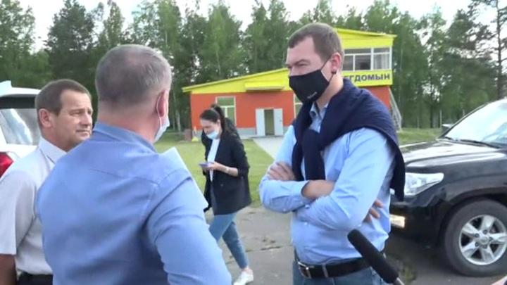 Врио губернатора Хабаровского края Михаил Дегтярев встретился с шахтерами