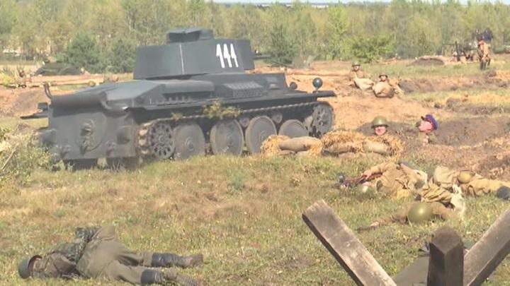 Под Курском прошла реконструкция битвы с немецко-фашистскими захватчиками